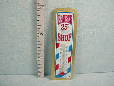 Dollhouse Miniature Barber Shop/Thermometer(non-Working) Advertising Sign -