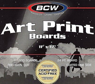 100 BCW 11 X17 Backing Boards  BCW  Acid Free  Art Print  Photo
