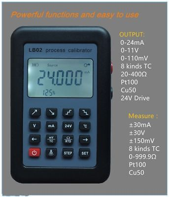 4-20mA/0-10V/mV Res Current Voltage signal generator source calibrator 24V meter