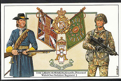 Military Postcard - The Green Howards, Princess of Wale's Own Regiment - A3748