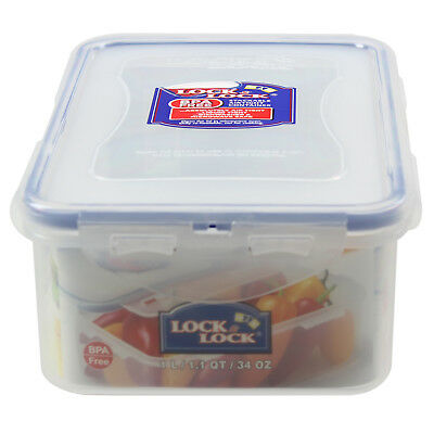 Lock & Lock 1L High Quality Rectangular Food Storage Durable Airtight Container