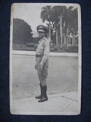 CUBA RARE 1940  original photograph of a police officer of the republic