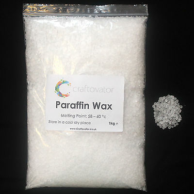 1kg Premium Paraffin Wax Pellets Beads Refined Candle Making Multi Purpose Use