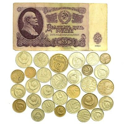 1961 Ussr Ruble +30 Kopeks. Russian Cccp Cold War Soviet Money Collection Lot