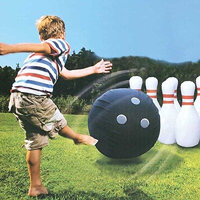 Etna Giant Inflatable Bowling Set Kids Outdoor Fun Games Oversized Toys Bowler