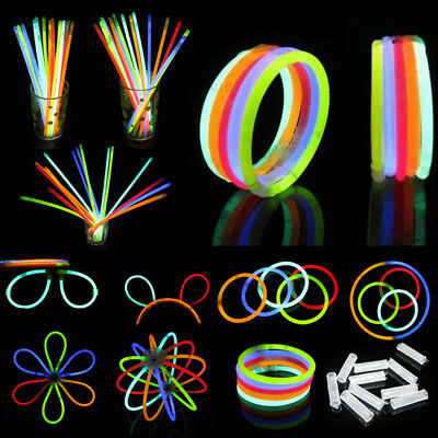 100pcs Mixed Color Glow Sticks Chemical Light Sticks Shinning Bracelet Flashing