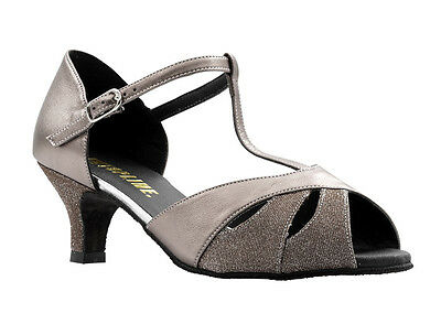 """Ladies All Colours Social Ballroom Dance Shoes 2"""" Or 2.5"""" Heel By Topline RUBY"""