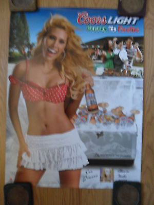 Sexy Girl Beer Poster Coors Light ~ Jimena Colores Fiesta Time