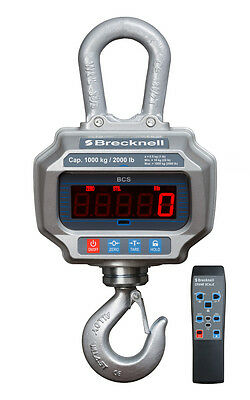 10,000 LB x 5 Brecknell Digital Crane Scale With Aluminum Case & Remote Control