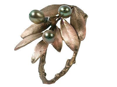Olive Napkin Rings by Michael Michaud - Silver Seasons Table Art