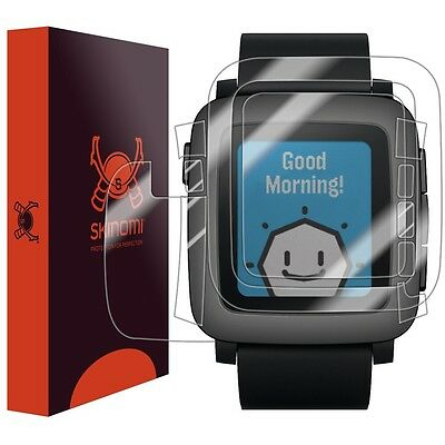 Skinomi Transparent Watch Skin+Clear Screen Protector for Pebble Time