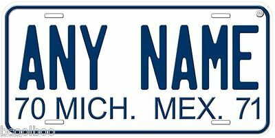 Michoacan 1970-71 Mexico Any Name Novelty Car License Plate