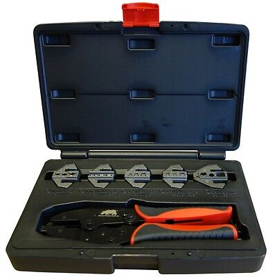 5 Die Automotive  Quick Change Cable Crimping Kit  Spark Plug Lead Crimper Tool