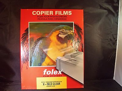 Folex Copier Film Transparencies Film 100 Sheets 8.5 x 11 X - 50.0 Clear