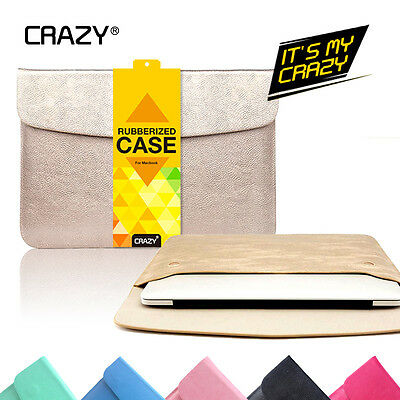 Crazy PU Leather Sleeve Bag Case Cover For MacBook 12 inch Laptop