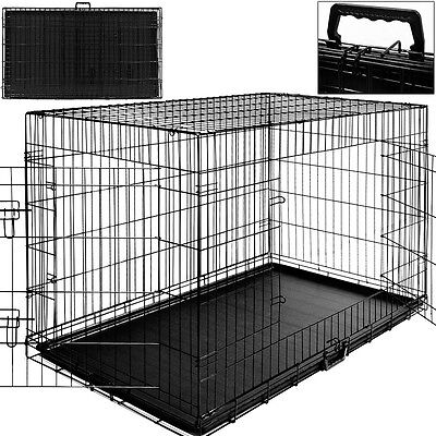 Cage Boite Transport Chien Et Animaux - Fermable & Pliable -Taille Xxl & Poignee