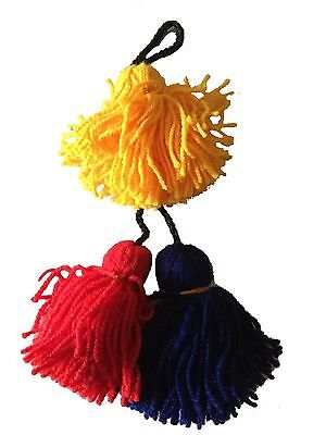 Dhol Phumans/ Tassels Professional 3 in a piece with set of 11(Random Colours)