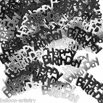 2 Packs Happy Birthday Party Confetti Foil Table Sprinkles BLACK
