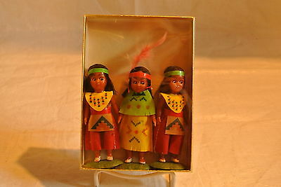 Lot of Three Vintage American Indian Dolls