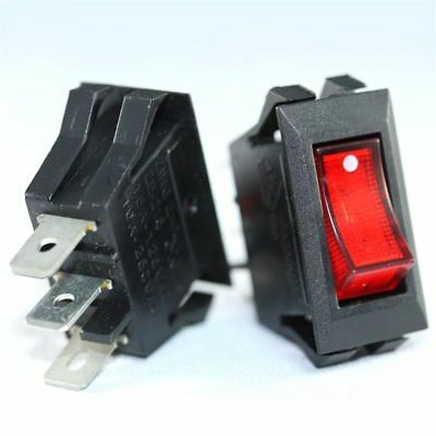 Zing Ear ZE-215 Illuminated Rocker Switch Black 15A 10A