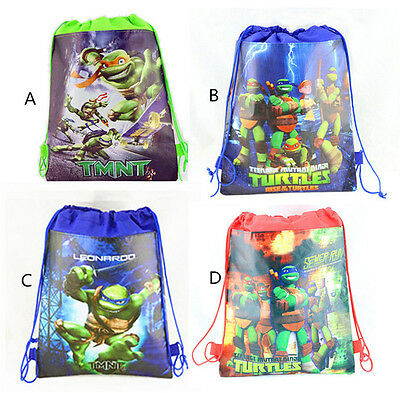 Cool Teenage Mutant Ninja Turtles Environmental Drawstring Backpack Kid Gift Bag