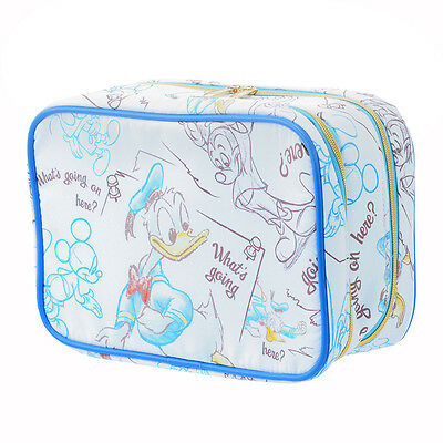 Cosmetic Bag Pouch Sketch Donald Duck ❤ Disney Store Japan