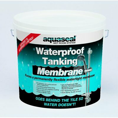 Everbuild Aquaseal Wet Room Waterpoof Tanking Kit Membrane Liquid 5 Litre Paint