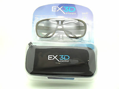 1x EX3D1011/345 Kids Boys Polarised Passive for 3D TV Glasses & Case Camouflage