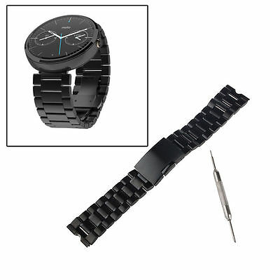 22mm Stainless Steel Solid Metal Watch Band For Motorola Moto 360 1st 1Gen AU
