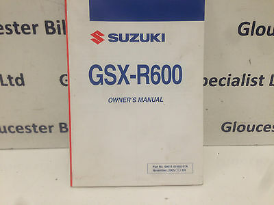 Suzuki Gsxr600 K6 Owners Manual 99011-01H50-01A