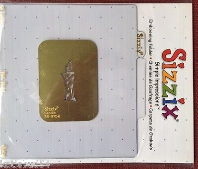 Candle Sizzix Embossing Folder #38-9756 Christmas NEW