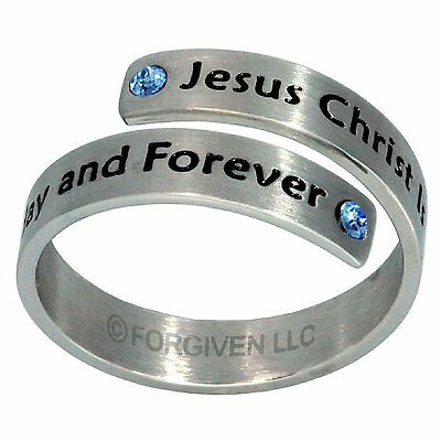 JESUS CHRIST IS THE SAME Stainless Steel Split Ring, by Forgiven Jewelry