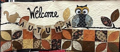 Welcome Autumn ~ KimberBell Bench Pillow of the Month (September) Quilt Pattern