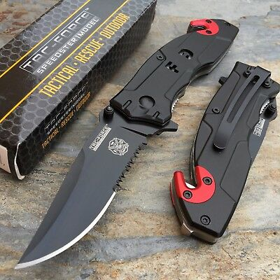 Tac Force Open Assisted Fire DEPT Rescue Folder Tactical Pocket Knife New