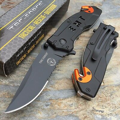 Tac Force Open Assisted EMT EMS Emergency Rescue Folder Tactical Pocket Knife