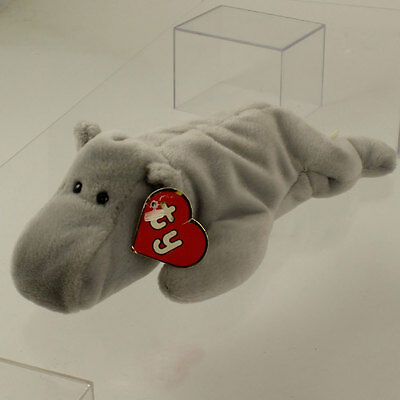 fa9b14cbb3a TY BEANIE BABY - HAPPY the Hippo (Grey Version) (1st Gen Hang Tag ...
