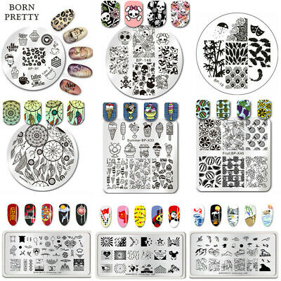 BORN PRETTY Nail Art Stamp Template Image Stamping Plate DIY Manicure BP 1-60