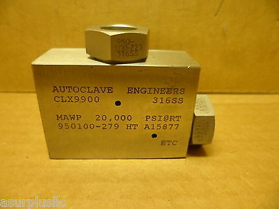 Autoclave Engineers Clx9900 Elbow 20,000 Psi. 316Ss 1/2 Id 950-100-223  N.o.s.
