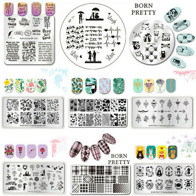 BORN PRETTY Nail Art Stamp Template Image Stamping Plate DIY Manicure BP-L 1-56