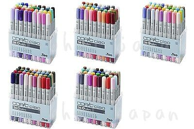 genuine Too Copic Ciao 36 Colors A / B / C / D /E : 12 /24 Colors set from Japan