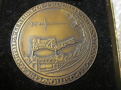 1933 Chicago Expo Exposition large bronze medal