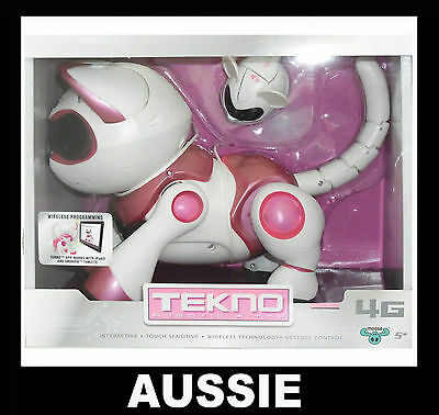 TEKNO ~ Pink Interactive Robotic Robot Kitty Kitten Cat with Mouse ~ NEW