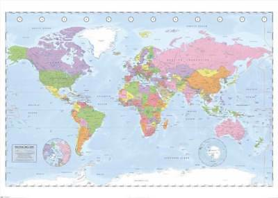 Educational World Map - Miller Projection Giant XXL Poster - 140x100 cm