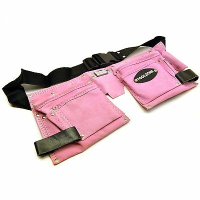 Leather Tool Belt / Storage Pouch PINK LADIES Tool Bag  / Roll Mat Holder TE452