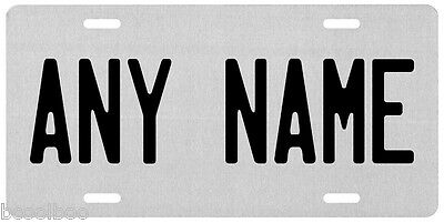 Personalized Any Name Silver Finis Novelty Car License Plate
