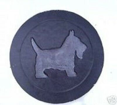 """Plastic Scottie stepping stone mold 8/"""" x 1.25/"""" thick reusable casting"""