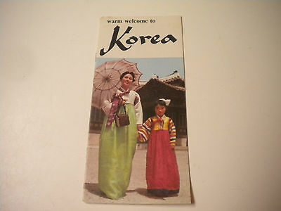 Vintage Warm Welcome to Korea Travel Brochure / Booklet