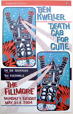 BEN KWELLER, DEATH CAB FOR CUTIE 2004 Concert Poster, Jim Winters, Fillmore F616