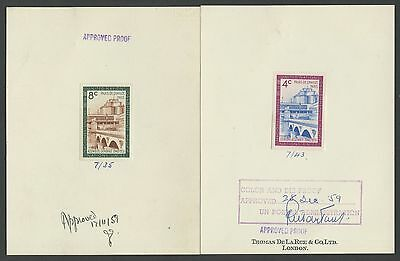 Un #77P-78P Die Proofs Approved By Post Adm. Signed Dec 1959 Wl9046