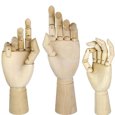 Artist Wooden Hand Model Manikin Movable Fingers SKETCHING DRAWING AID MANNEQUIN